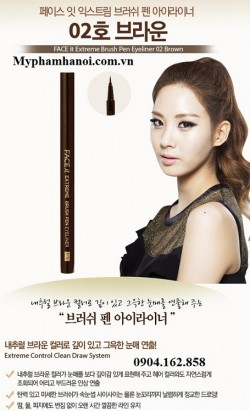 Bút kẻ mắt dạ The Face Shop Face It Extreme Brush Pen Eyeliner - But ke mat da The Face Shop Face It Extreme Brush Pen Eyeliner